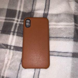 Used leather Vegan IPhone X/XS case
